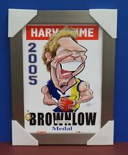 Ben Cousins 2005 Brownlow Medallist West Coast Eagles L/E Print Silver Frame