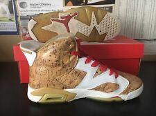 Nike Air Jordan 6 Cork First Ring Custom Basketball Shoes Mens Size: 9.5