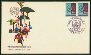Mayfairstamps Thailand 1967 United Nations Day Pair First Day Cover wwp79631