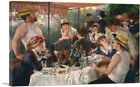 ARTCANVAS Luncheon of the Boating Party Canvas Art Print Pierre-Auguste Renoir