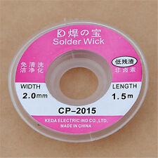 1Pc CP-2015 Entlötlitze Soldering Solder Remover Entferner 2.0mmx1.5 m Kabel Neu