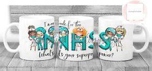 NHS Nurse Mug Novelty Gift Ceramic Cup 11oz Key Worker