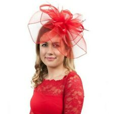 Large Red Veil Hat Ladies Fascinator Headpiece Hatinators Fascinators RRP £45