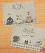 PATTERN - Afternoon Tea Mats - sweet applique placemats PATTERN - Yoko Saito