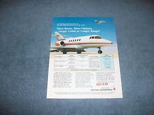 "1986 British Aerospace BAe 800 Private Jet Vintage Ad ""More Room, More Options.."