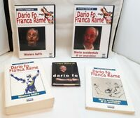DARIO FO - 3 LIBRI + 3 DVD MISTERO BUFFO + MORTE ACCIDENTALE DI UN ANARCHICO