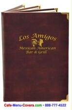 24 Menu Covers Casemade with Inside Clear Pockets 8.5x14 Quad Pocket/ 6 View