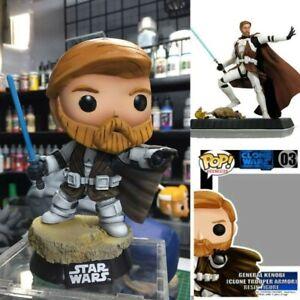 Funko POP Star Wars Clone Wars General Kenobi(Clone Armor) Custom Resin Figure