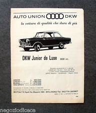 O452 - Advertising Pubblicità -1963- AUTO UNION DKW JUNIOR DE LUXE 800 cc.