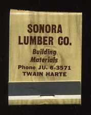 Vintage 1950s' Sonora Lumber Company Building Materials Twain Harte Matchbook