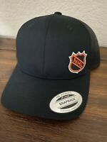 NHL National Hockey League Shield Logo Trucker Low-Mid Crown Hat Black Mesh