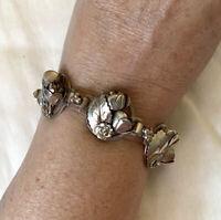 Vtg Hobe' Sterling Floral Bracelet