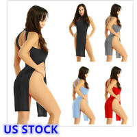 US Sexy Women Ultra Thin Lingerie Bodycon Evening Party Cocktail Club Mini Dress