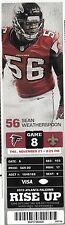 2013 ATLANTA FALCONS VS NEW ORLEANS SAINTS TICKET STUB 11/24/13 DREW BREES