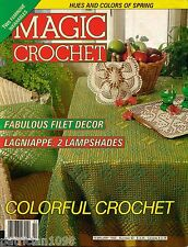 MAGIC CROCHET 82 Feb 1993 Doilies Edgings Lampshades Easter 29 Patterns