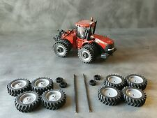 1/64 Farm custom scratch 20.8 R46 tractor tire kit gray rims + axels + weights