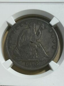 1876 US Seated Liberty Half Dollar Graded VF35 by NGC!!