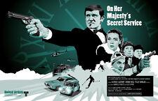 James Bond 007 | OHMSS | On Her Majesty's Secret Service | Fan Art 17 x 11 Print