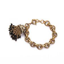 Bracelet Charms Fringe Mini Pearl Black Retro Original Evening Marriage Gift CT1