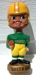 Mid 1970's Green Bay Packers Bobble Head Made in Japan. Made in Japan Nodder