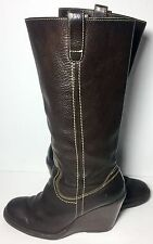 Frye 77337 Campus Caroline Brown Leather Biker Motorcycle Boots Women's Size 8