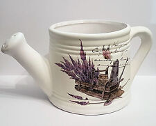 Kanne / Gießkanne Lavendel Keramik Pflanzgefäß Deko Übertopf Blumentopf shabby
