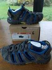 Junior Boys Rubber Sandals Shoes UK 6 EU 39 Charcoal Blue Toggle Lace New in Box