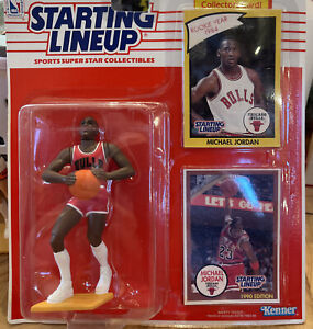 1990 Starting Lineup MICHAEL JORDAN Chicago Bulls Rookie Year 1984 Collectors RC
