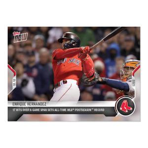 2021 Topps Now #986 Enrique Hernandez Boston Red Sox PRESALE