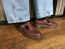 Dr. Doc Martens Airwear Polley T Strap Mary Jane Cherry Red