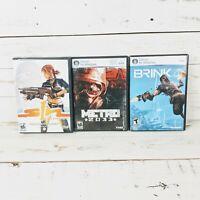 Sin Emergence Episode 1, Metro 2033 and Brink PC DVD-ROM Video Game Bundle