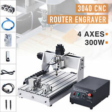 4 Axis Cnc Router Cutting Engraving Carving Machine W Usb Port For Wood Amp More