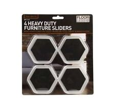 4 Furniture Sliders Gliders Move Furniture Pads Works All Surface 8x8cm