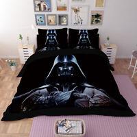 3D Star Wars Design Bedding Set 3PC Duvet Quilt Cover Pillowcase Comfort Soft