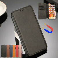 Fr iPhone 11 Pro Max Xs 8 7 Plus Leather Wallet Case Card Holder Slim Flip Cover
