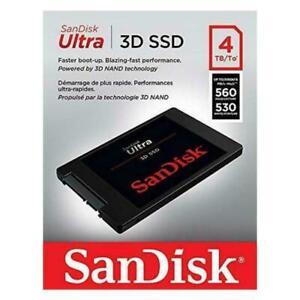 """SANDISK ULTRA 3D SSD 4TB Internal Solid State Drive 2.5"""" SATA III 3D RRP £470"""