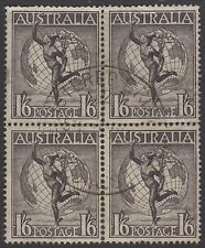 REGISTERED BRISBANE 2 Queensland postmark 1949 1'6 Hermes block 4 Australia QLD