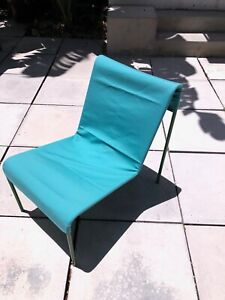 Five Mid Century Metal and Fabric Garden Chairs attributed to Panton