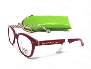 NWT Kate Spade Rebecca 49MM Red Readers Glasses w Case Strength +1.5/+2.0