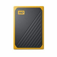 Western Digital My Passport Go 500GB Portable Solid State Drive SSD USB Yellow