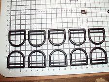 "10pcs. Plastic D Ring Buckles for Webbing 25mm Black    ""DPP"""