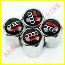 AUDI rosso anti furto Polvere Tappi Valvola limitata tutti i modelli Retail Pack A6 TT Q2 R8