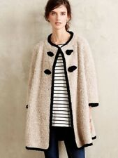 Anthropologie Paper Crown Blair Boucle Coat XS Reversible Jacket Black Cream