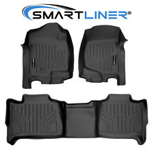 Smartliner Custom Fit Floor Mats Set Black For Tahoe/Yukon/Suburban/Yuko n Xl (Fits: Chevrolet)