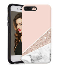Marble Shape Stone Dual Layer heavy duty Case Cover For Apple iPhone 6 7 8 Plus