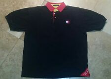 Tommy Hilfiger Short Sleeve Polo Golf Shirt 100% Cotton Blue Youth L