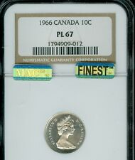 1966 CANADA 10 CENTS NGC PL67 CAMEO MAC FINEST REGISTRY MAC SPOTLESS *