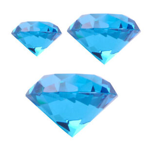 30/40/60mm Crystal Paperweight Cut Glass Diamond Jewelry Wedding Decoration Gift