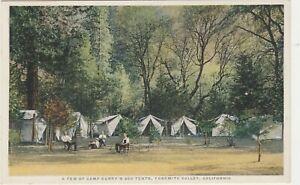 Yosemite CA -- Camp Curry Tents -- Yosemite Valley -- Vintage Postcard