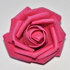 "SMALL 2.5"" Pink Foam Flower Hair Clip Wedding Bridesmaid Prom"